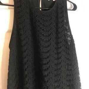 LOFT Black Lace Tank